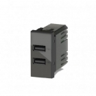 ALIMENTATORE USB 5V 2.4A PER BTICINO LIVINGLIGHT COLORE ANTRACITE product photo