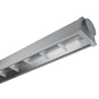 A258E PLAFONIERA ACCIAIO E LED 2X58W D 4000K product photo