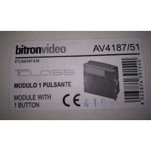 BITRON VIDEO AV4187/51 - MODULO 1 PULSANTE TCLASS product photo