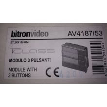 BITRON VIDEO AV4187/53 - MODULO 3 PULSANTI TCLASS product photo