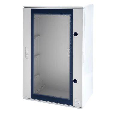 Plastica gewiss quadro poliestere porta trasparente for Quadro esterno 72 moduli