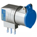 ADATTATORE DI SISTEMA CON SPINA CIVILE S17 E PRESA INDUSTRIALE 16A  IP20 product photo